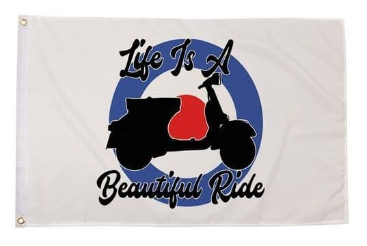 Life Is A Beautiful Ride Flag